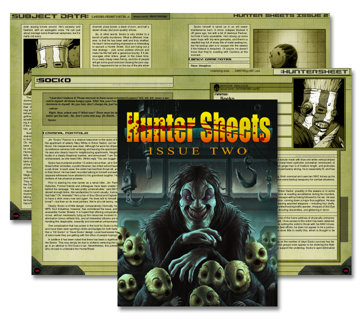 Page spreads of Hunter Sheets Issue 2